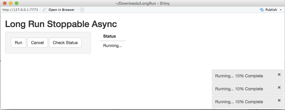 Long Running Tasks With Shiny: Challenges and Solutions | R-bloggers